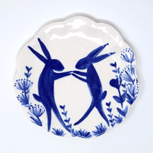 Load image into Gallery viewer, Dancing Hares Plate 15cm