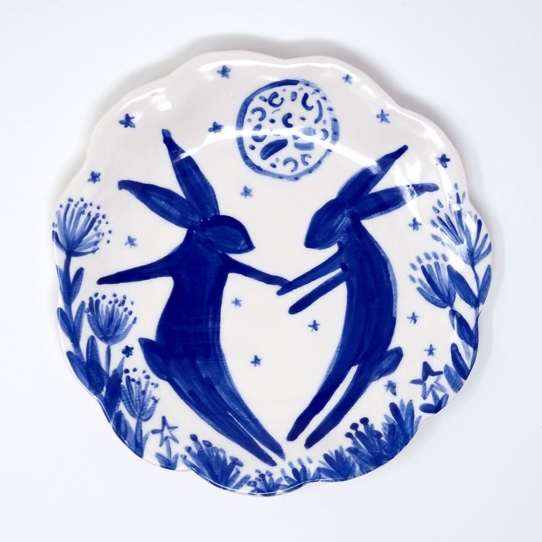Moon Hares Plate 15cm