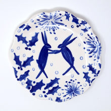 Load image into Gallery viewer, Winter Hares Plate 15cm