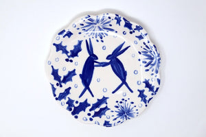 Autumn & Winter Hare Plates 15cm