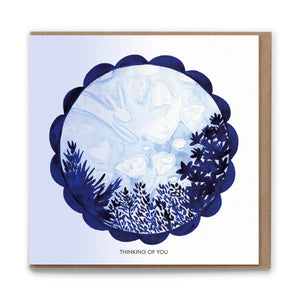 Clouds (Thinking of You) Blank Greetings Card