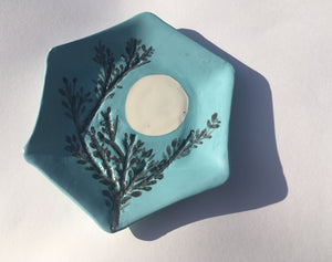 New Forest Blue Full Moon Plate