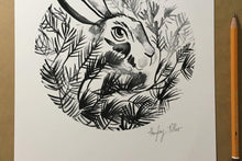 Load image into Gallery viewer, A4 Hare Archival Giclée Print Signed for Artists Support Pledge