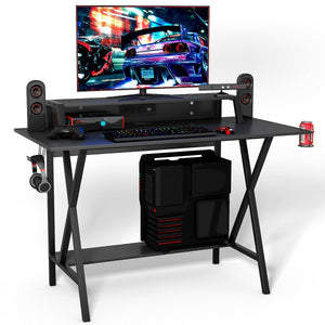 All-in-One Professional Gaming Desk with Cup & Headphone Holder