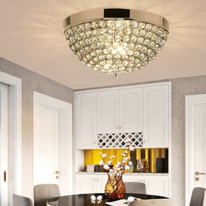 3 Lights Living Room Crystal Ceiling Light Fixture