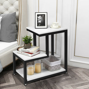 3-Tier Sofa Side Table Night Stand