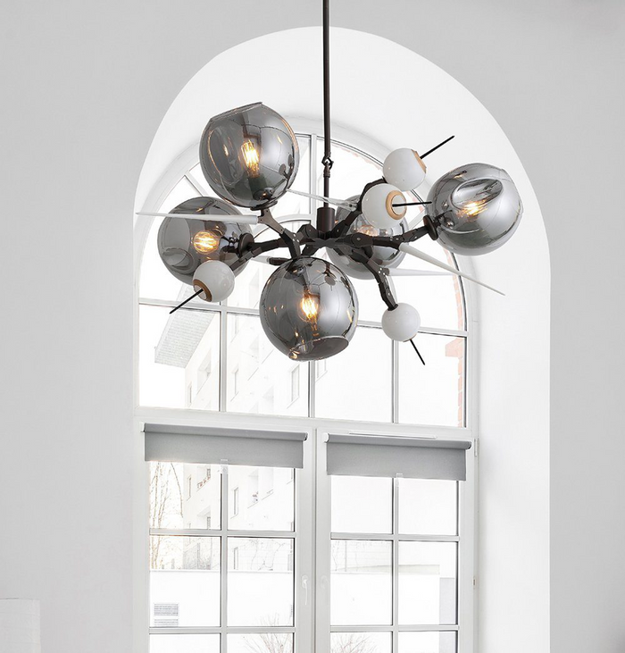 Aliyah 5 Large Globes Chandelier