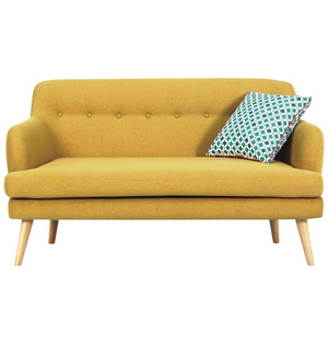 Exelero Loveseat 2 Seater Sofa - Yellow
