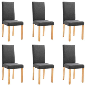 Dining Chairs 6 pcs Dark Gray Fabric
