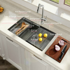 32-inch Undermount 16 Gauge Kitchen Sink