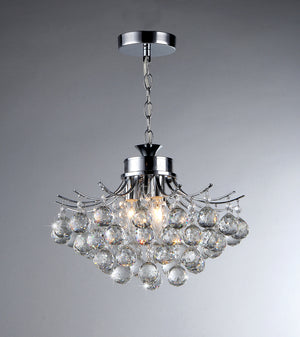 Shield Crystal 4-light Chrome Chandelier