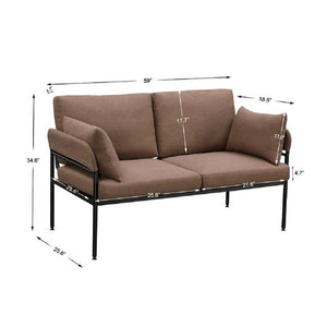 "Bermudes 59"" Pillow Top Arm Loveseat"