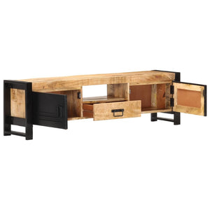 "TV Cabinet 55.1""x11.8""x15.7"" Rough Mango Wood"