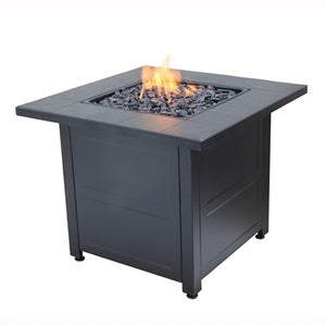 "30"" Modern Square Gas Firepit"