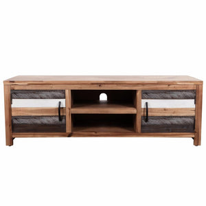 "TV Cabinet Solid Acacia Wood 47.2""x13.8""x15.7"""