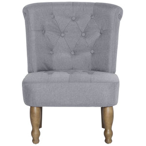 French Chairs 2 pcs Light Gray Fabric
