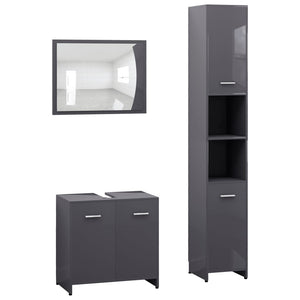 Modern Bathroom Furniture Set Gray