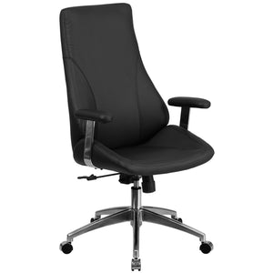 LeatherSoft Upholstered Executive Swivel Office Chair