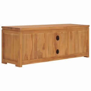 "TV Stand Cabinet 43.3""x11.8""x15.7"" Solid Teak Wood"