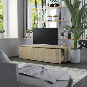 "TV Cabinet Sonoma Oak 47.2""x13.4""x11.8"" Chipboard"