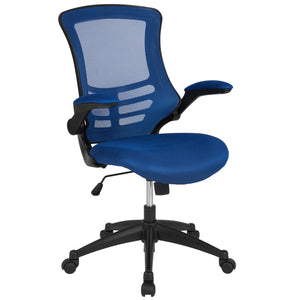 Mid-Back Mesh Swivel Ergonomic Task Office Chair with Flip-Up Arms