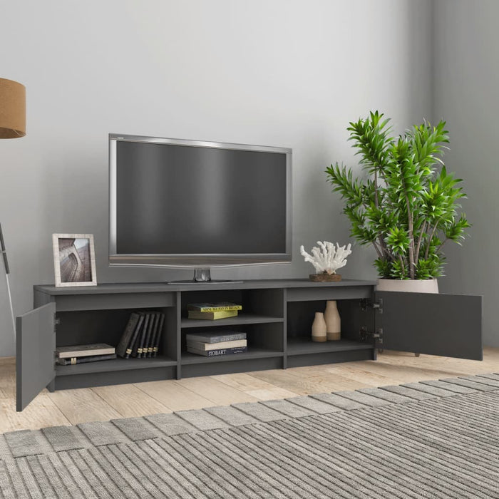 "TV Cabinet Gray 55.1""x15.7""x14"" Chipboard"