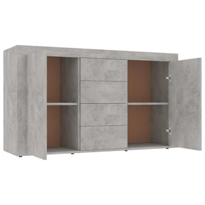 "Sideboard Concrete Gray 47.2""x14.2""x27.2"" Chipboard"