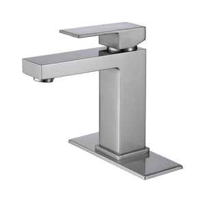 Solid Brass Basin Brushed Nickel Bathroom Faucet