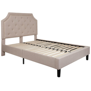 Brighton Arched Tufted Upholstered Platform Bed