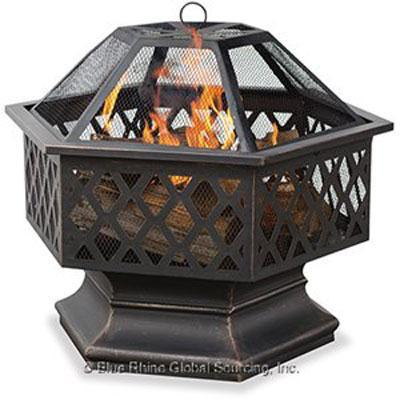 UF Hex Shaped Lattice Firepit