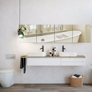 Wall Mirrors Flexible Real Glass Flat Frameless