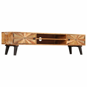 "TV Cabinet Solid Mango Wood 57.1""x13.8""x13.8"""