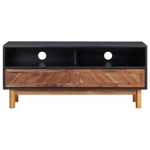 "TV Cabinet 39.4""x13.8""x17.7"" Solid Acacia Wood and MDF"