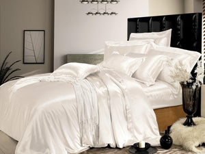 Taihu Snow Silk Simple Luxury Ivory Mulberry Silk Duvet Cover