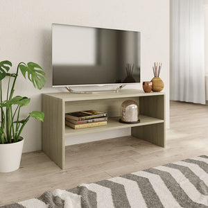 "TV Cabinet Sonoma Oak 31.5""x15.7""x15.7"" Chipboard"