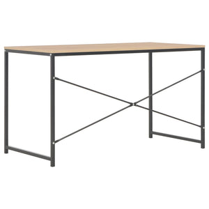 "Computer Desk Black and Oak 47.2""x23.6""x27.6"""