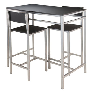 Hanley 3-pc High Table with 2 High Back Stools