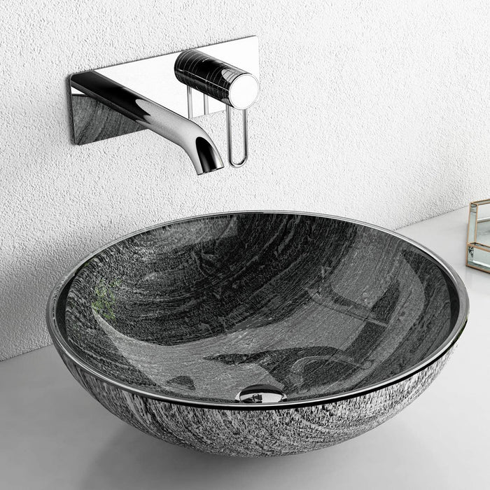 F&R Glass Vessel Bathroom Sink Handmade Thick & Durable