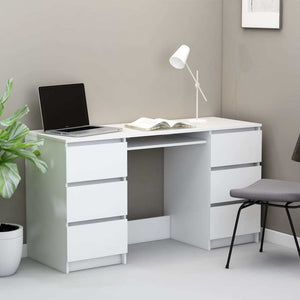 "Writing Desk White 55.1""x19.7""x30.3"" Chipboard"
