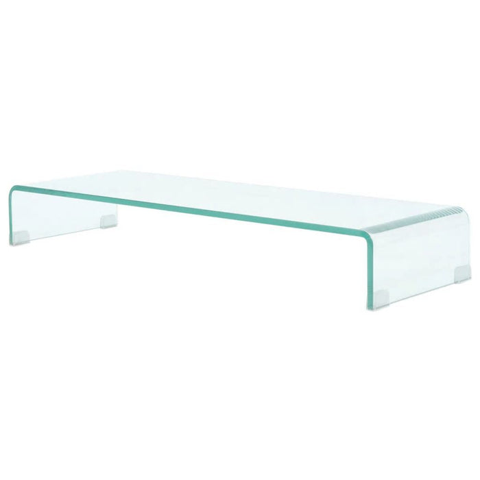 "TV Stand / Monitor Riser Glass Clear 35.4""x11.8""x5.1"""