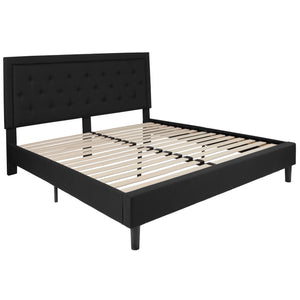 Roxbury Panel Tufted Upholstered Platform Bed