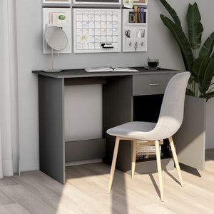 "Desk Gray 39.4""x19.7""x29.9"" Chipboard"