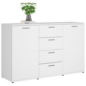 "Sideboard White 47.2""x14""x29.5"" Chipboard"