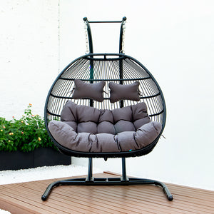 FOLDING DOUBLE SWING CHAIR w/CUSHION