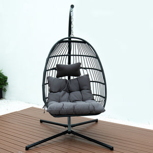 FOLDING SINGLE SWING CHAIR w/CUSHION