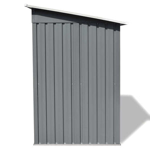 "Garden Shed Gray Metal 74.8""x48.8""x71.3"""