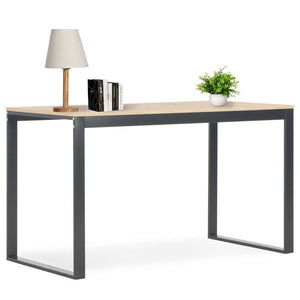 "Computer Desk Black and Oak 47.2""x23.6""x28.7"""