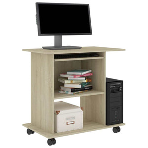 "Computer Desk Sonoma Oak 31.5""x19.7""x29.5"" Chipboard"
