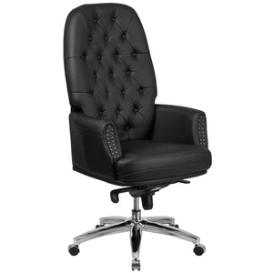 High Back Traditional Tufted LeatherSoft Executive Swivel Ergonomic Office Chair