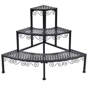 3-Tier Corner Metal Flower Ladder Plant Stand